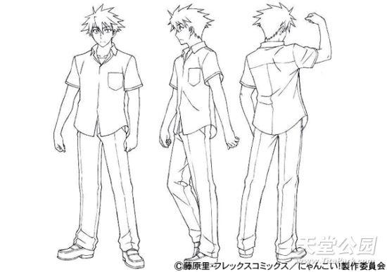 角色设计手绘三视图